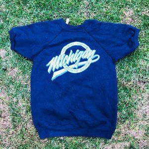 Vintage Champion Michigan Wolverines Blue Yellow C